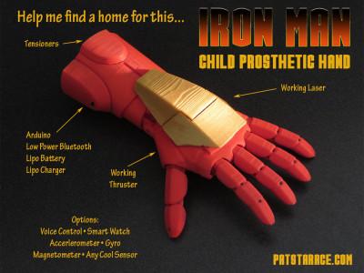 IronMan 3D Printed Kids Hand