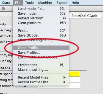 Setting up Cura slicing software for Craftbot – Deezmaker 3D Printing